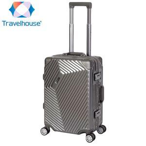 Travelhouse Roma - Handgepäck - Grau, Polycarbonat Hartschale, Alu-Rahmen