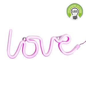 """LED NEON Leuchte """"Love"""", pink, 35x13cm, Deko, Bar, Party, Polterabend, Hochzeit, Liebe"""