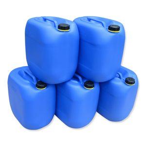 5 x 30 Liter L Kanister Wasserkanister Campingkanister Farbe blau lebensmittelecht (5x30 knb)