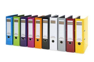 10x Aktenordner / DIN A4 / 75mm breit / 10 verschiedene Farben