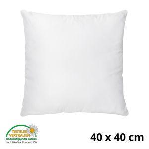 Kopfkissen 40x40 cm Innenkissen Steppkissen Mikrofaser Kissen für Allergiker füllkissen Bettkissen Schlafkissen Pillow (Weiß, 40 x 40 cm)