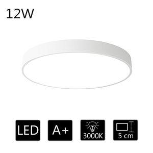 12W Deckenleuchte LED Deckenlampe ultra dünn runde Lampe warmweiss 3000k, für Flur Diele Küche usw. 23*23*5cm (Weiß)