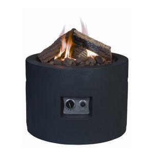 Mania Cocoon Feuertisch schwarz rund 61 cm Durchmesser