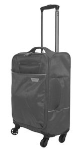 28L Handgepäck Trolley ultra leicht Business Boardcase Koffer Reisekoffer Tasche, Farbe:Grau