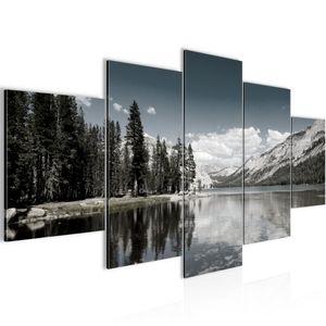 Berg Landschaft BILD :200x100 cm − FOTOGRAFIE AUF VLIES LEINWANDBILD XXL DEKORATION WANDBILDER MODERN KUNSTDRUCK MEHRTEILIG