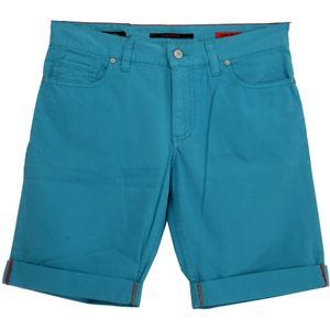18673 Alberto, Pipe K,  Bermuda kurze Hose Shorts, Popeline Stretch, türkisblau, W 29
