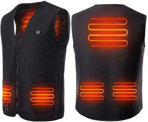 Beheizte Weste USB Wiederaufladbar Beheizte Warme Jacke Beheizte Kleidung Einstellbare Temperatur für Körperwärmer im Winter für Herren Damen Outdoor Camping Wandern (L)