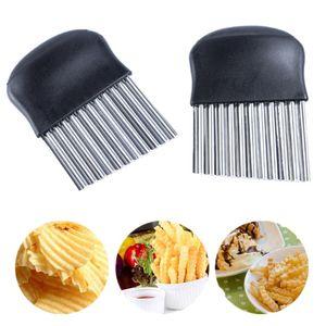 Pndwfr  Wellenschneider aus Edelstahl Kartoffelschneider Gemüseschneider Küchenhelfer Karotten Chips spülmaschinenfest