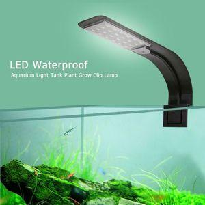 Melario Schlank 24 LED 10W Aquarium Beleuchtung Pflanzen Wachsen Lampe Aquariumleuchte Schwarz