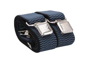 Fabio Farini 4 cm breiter Hosenträger Y Form für Herren verstellbare Länge, Hosenträger Farben:Blau