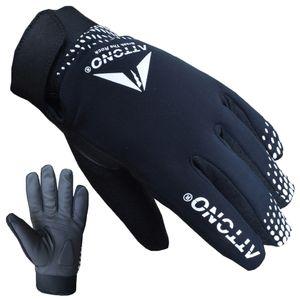ATTONO Fahrradhandschuhe Winter Fahrrad Mountainbike Handschuhe mit wasserdichter Membrane