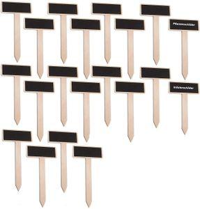 20 PCS Mini Pflanzenschilder Holz Pflanzenstecker Tafel Pflanzenstecker Etiketten Pflanzen Pflanzenschilder für Kräuterschilder