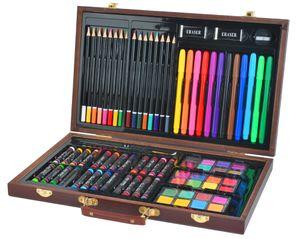 Malset Koffer Mega-Set 81 Einzelteile im Koffer Künstler Maler Kreative Kunst 6072