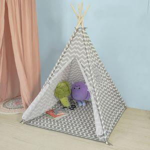 SoBuy Spielzelt mit Sternen Zelt für Kinder mit Tür und Fenster Spielhaus, OSS03