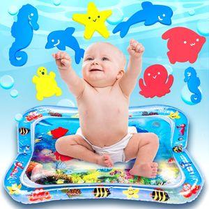 Wassermatte Aufblasbare BPA-frei Wasser-Matte Spielzeug Spieldecke Das Stimulationswachstum Ihres Babys Wasser Spielmatte Für Kinder und Kleinkinder (25'' x 18'')  Zufälliger Stil