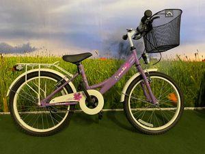 20 ZOLL Kinder Mädchen City Fahrrad Cityfahrrad Citybike Kinderfahrrad Mädchenfahrrad Kinderrad Mädchenrad Bike Rad mit Beleuchtung STVO KDS 2300 LILA