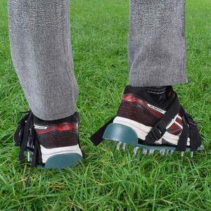Rasenbelüfter Rasenlüfter Sandalen Vertikutierer Rasen Nagelschuhe 4 Riemen