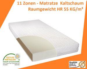 """11 Zonen - Matratze 180 x 200 cm, H2 - Kaltschaum """"LUXUS-RELAX DeLuxe"""" (Raumgewicht HR 55 KG/m³) Hergestellt in Deutschland"""