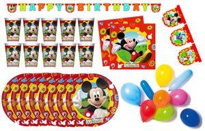 Micky Maus - Kindergeburtstags-Set II (50-teilig) Teller Becher Dekoration Servietten Geburtstag