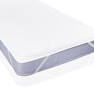 Lumaland 180x200cm Wasserundurchlässige Matratzenauflage aus Flanell Kopfkissenschoner weiß