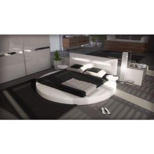 Wasserbett NIGHT weiß Gesamtbreite: plus 100cm Gesamtlänge: ca. 250cm Kopfteilhöhe: 92cm Rahmenhöhe: ca 20cm