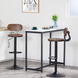 2 x Barhocker Barstuhl Tresenhocker Stuhl drehbar und höhenverstellbar Tresen Hocker