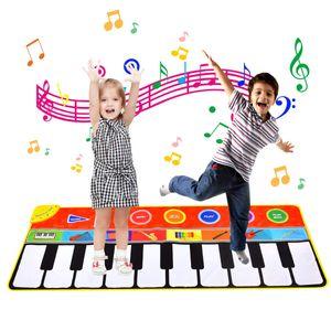 Tanzmatte, Kinder Musikmatte, Klaviermatte mit 8 Instrumenten, Klaviertastatur Musik Playmat Spielzeug für Babys, Kinder, Mädchen und Junge (148x60 cm)