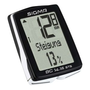 Sigma Fahrradcomputer BC 14.16 STS Schwarz 1417