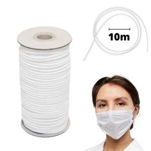 10 m Gummikordel Gummiband Gummizug Hutgummi Elastische Bänder Seil für Crafts Rundkordel Rundgummi Gummiseil Ideal für Masken