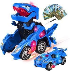 Transformer Dinosaurier Auto Roboter Elektronisches Spielzeug Transforming Toy 2 in 1 Transforming Dinosaurier