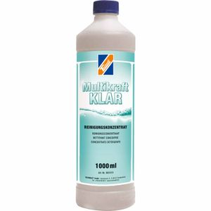 TECHNOLIT Multikraft KLAR Glasreiniger alkalisch 1 Liter, Glanzreiniger, Insektenentferner, Metallreiniger, Kunststoffreiniger