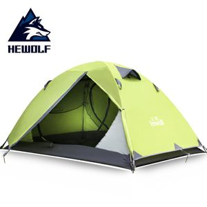 Outdoor-Camping-Zelt zweischichtigen ultraleichte 2-Personen-Zelt -(Grün,)