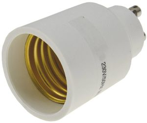 ChiliTec Lampensockel-Adapter, Kunststoff GU10 auf E27