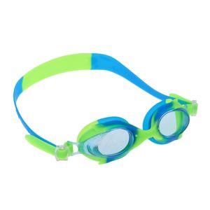 Silikon Unisex Kinder Kind Anti-Fog Schwimmbrille Brille blau grün Farbe Blau Grün