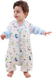 Baby Schlafsack Winter, Abnehmbare Ärmel, Schlafsack mit Füße Schlafsack Baby Babyschlafsäcke mit abnehmbaren Ärmeln für Säugling Kinder 1-3 Jahre alt von 80 bis 95 cm (Blau)