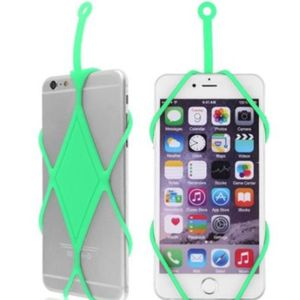 Silikon Lanyard Telefon Lanyard Green Case Soft Halskette Telefone Halter Handy