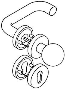 Hewi Rosetten-Drückergarnitur 111R / 123.23R / 305...R / 306.23 PZ TS38,1-48mm reinweiß - 111R03.133 99