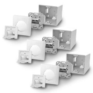 3x ARLI Cat6a Netzwerkdose 2 Port ( Auf + Unterputz )