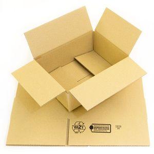 75 x Faltkartons 230 x 170 x 80 mm | Faltkarton braun - 1 wellig