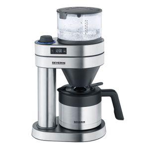 Severin KA 5761 Cafe Caprice Thermo-Kaffeeautomat Edelstahl-gebürstet-schwarz-matt, Farbe:Edelstahl
