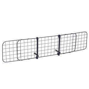 PawHut Hundeschutzgitter Auto Universal verstellbar Kofferraumgitter Trenngitter Metall schwarz (91-145) x 30 cm