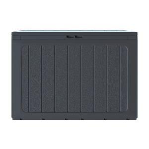 Gartenbox Kissenbox Gartentruhe 190L Verschließbar Anthrazit Prosperplast