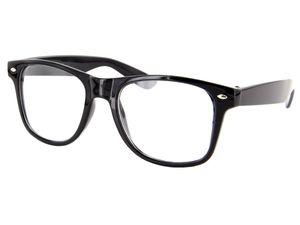 Retro Fake Brille ohne Sehstärke Sonnenbrille Nerd Brille klar  V-816C
