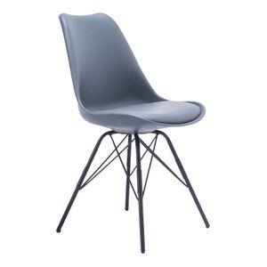 2 x Designerstuhl OLAV grau Schalenstuhl Esszimmerstühle Stuhl