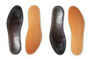 2 Paar EINLEGESOHLE zuschneidbar Lederoptik Schuheinlagen Ledersohlen Sohlen 58