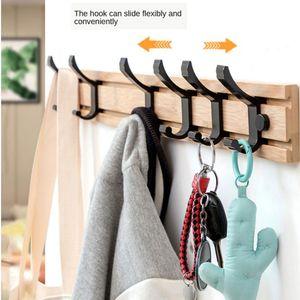 Bambus Mantel Rack Haken Wand Montiert Robe Hut Kleidung Handtuch Aufhänger 4 Haken Holz Modern Kleiderhaken