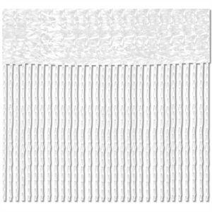 2er Pack Fadenvorhang, Größe: 90x240, Farbe: Weiß