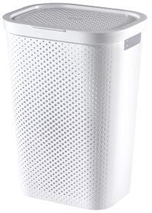 Curver INFINITY Wäschebox mit Lochmuster, 60 l, Weiß