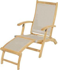 Ploß Deckchair Richmond, Teak/Textilene taube