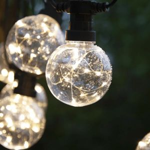 LED Lichterkette 'CIRCUS' - 10 Kugeln, 8cm mit je 10 Micro-WW LED - 4,5m - inkl. Trafo - outdoor